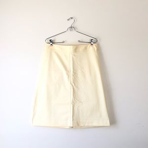 BANANA REPUBLIC yellow Aline pencil skirt stretch